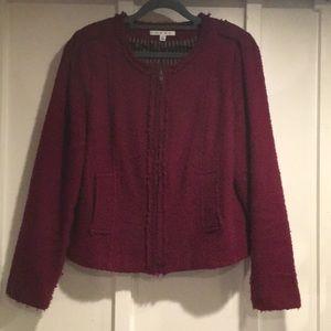 CAbi burgundy/merlot jacket.  Size 12